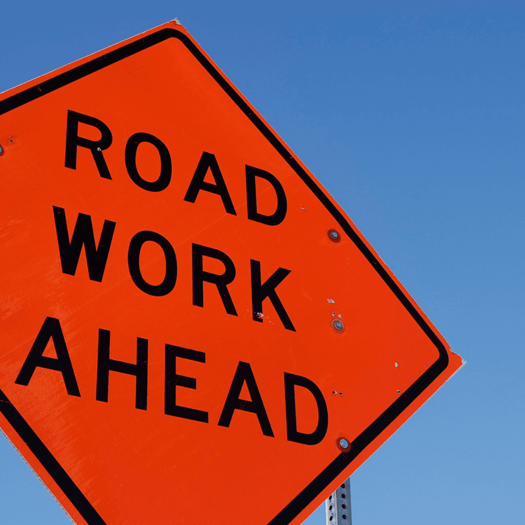 Photo of Road Work Ahead sign