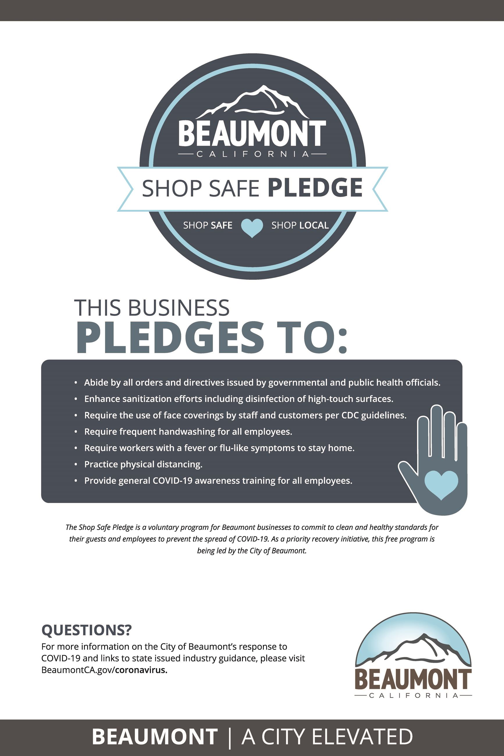 Shop Safe Pledge Poster